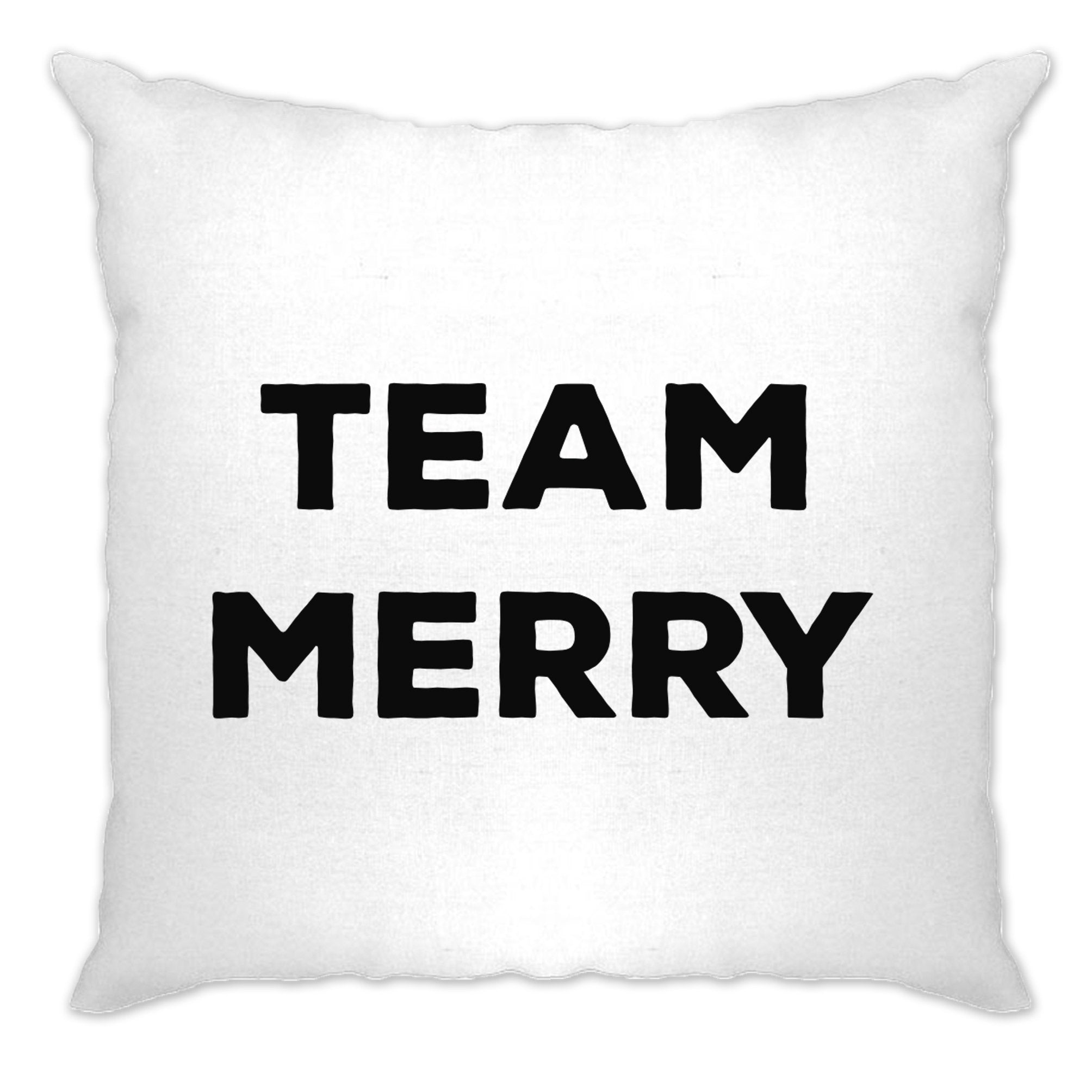 Novelty Xmas Cushion Cover Team Merry Christmas