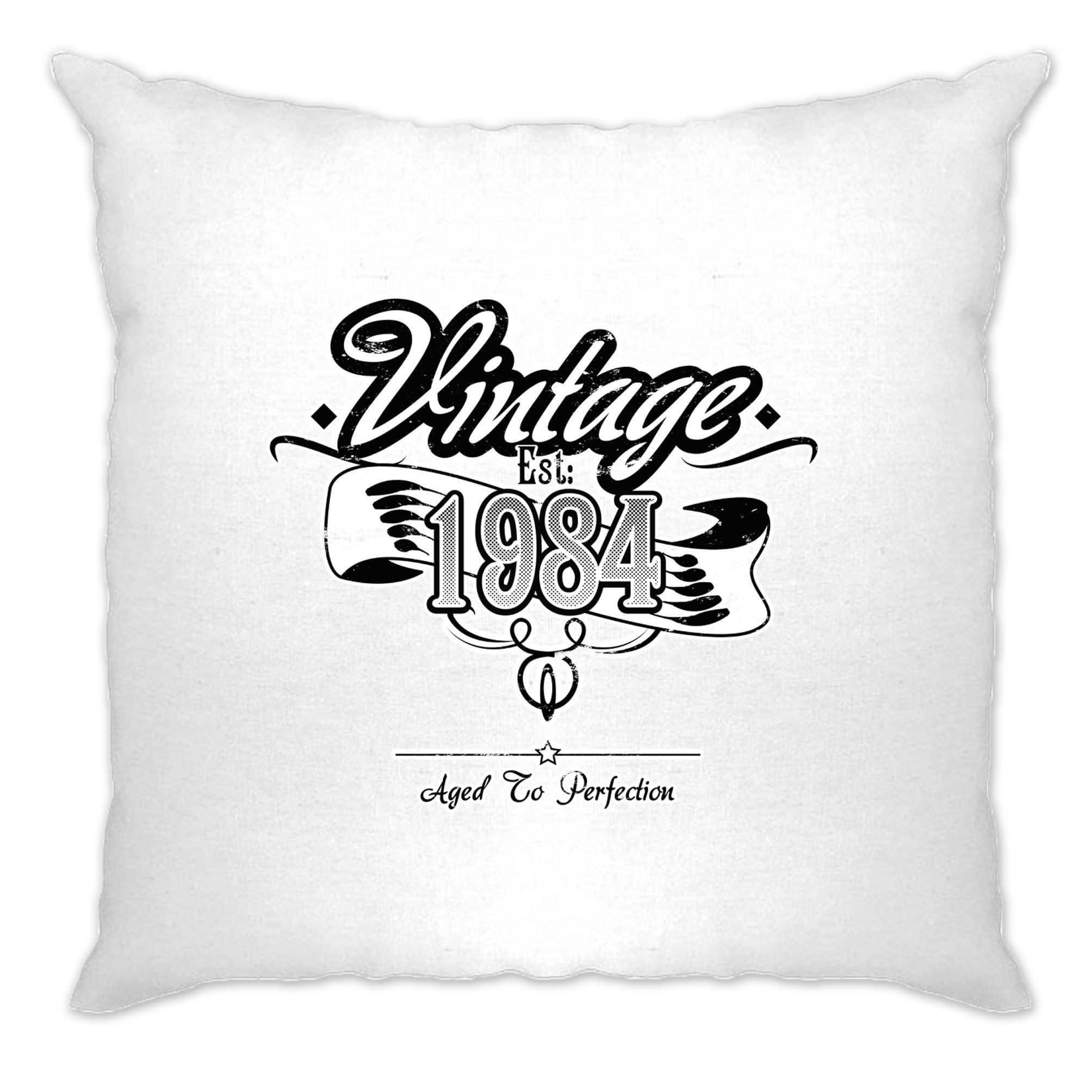 Birthday Cushion Cover Vintage Est 1984 Aged To Perfection
