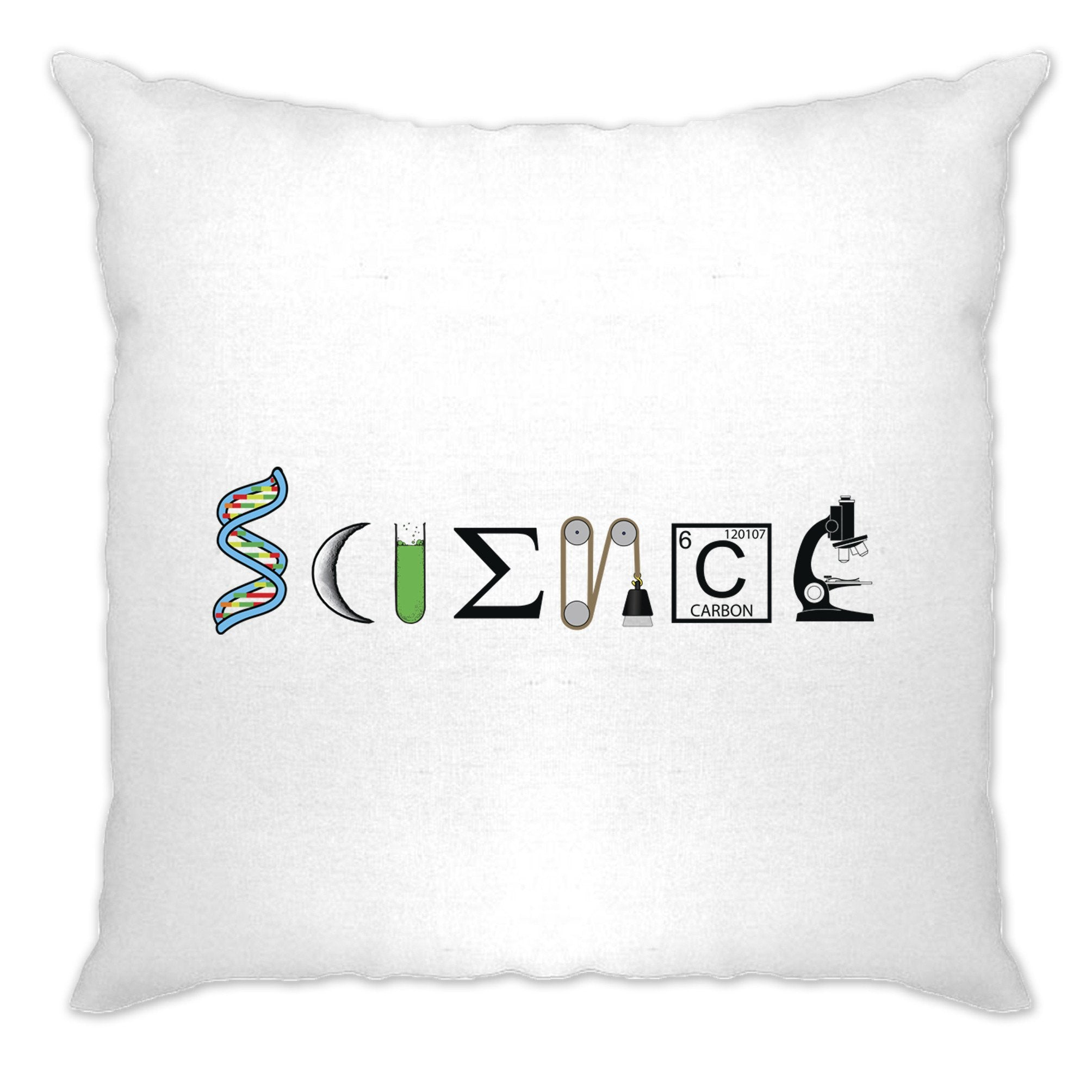 The Word Science Cushion Cover Made From Scientific Things
