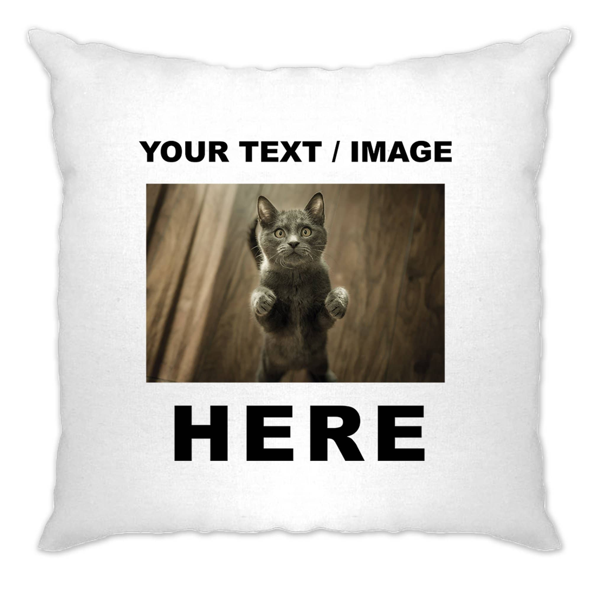 Custom Printed Cushion Cover with Your Text or Image