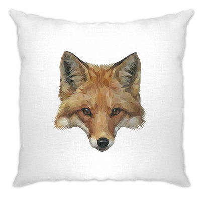 Animal Art Cushion Cover Low Poly Fox Graphic