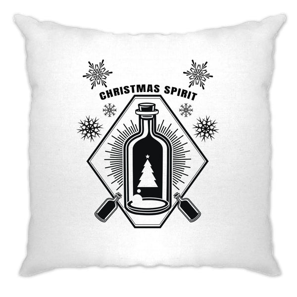 Booze Cushion Cover Christmas Alcohol Bottle