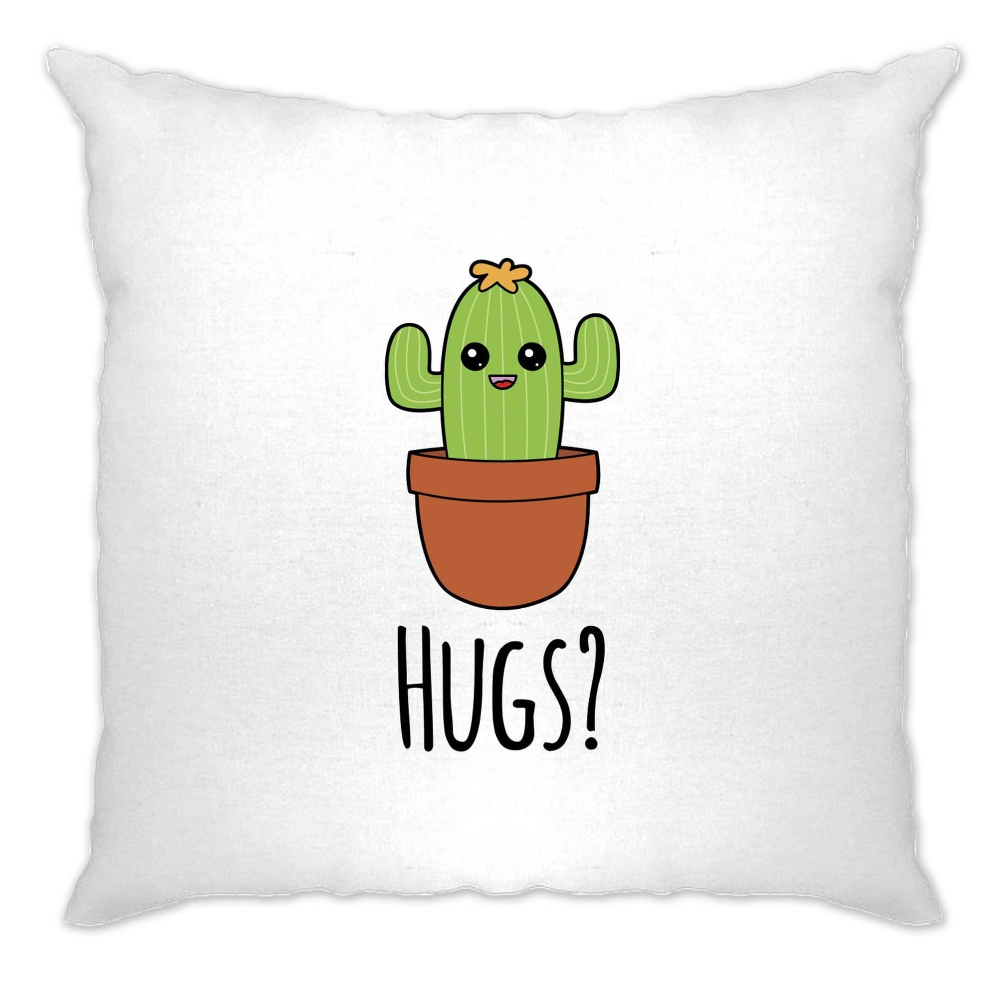 Novelty Cushion Cover Cactus Wants Hugs Design