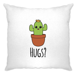 Funny Cushion Cover Cactus Wants Hugs Novelty Design