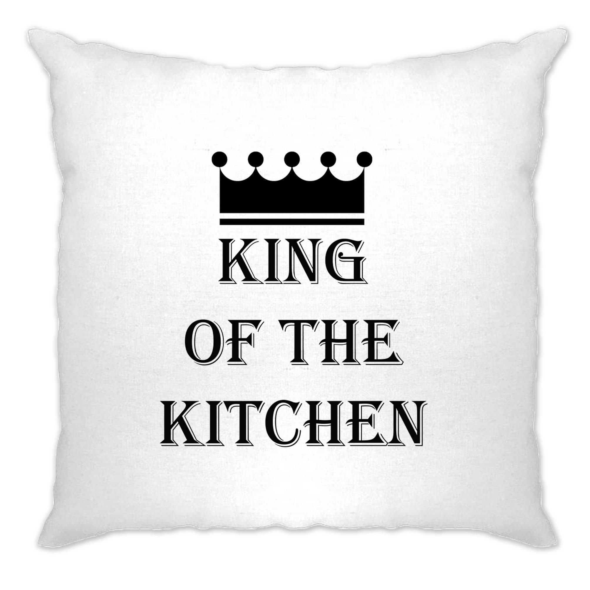 Chef's Cooking Cushion Cover King Of The Kitchen Slogan