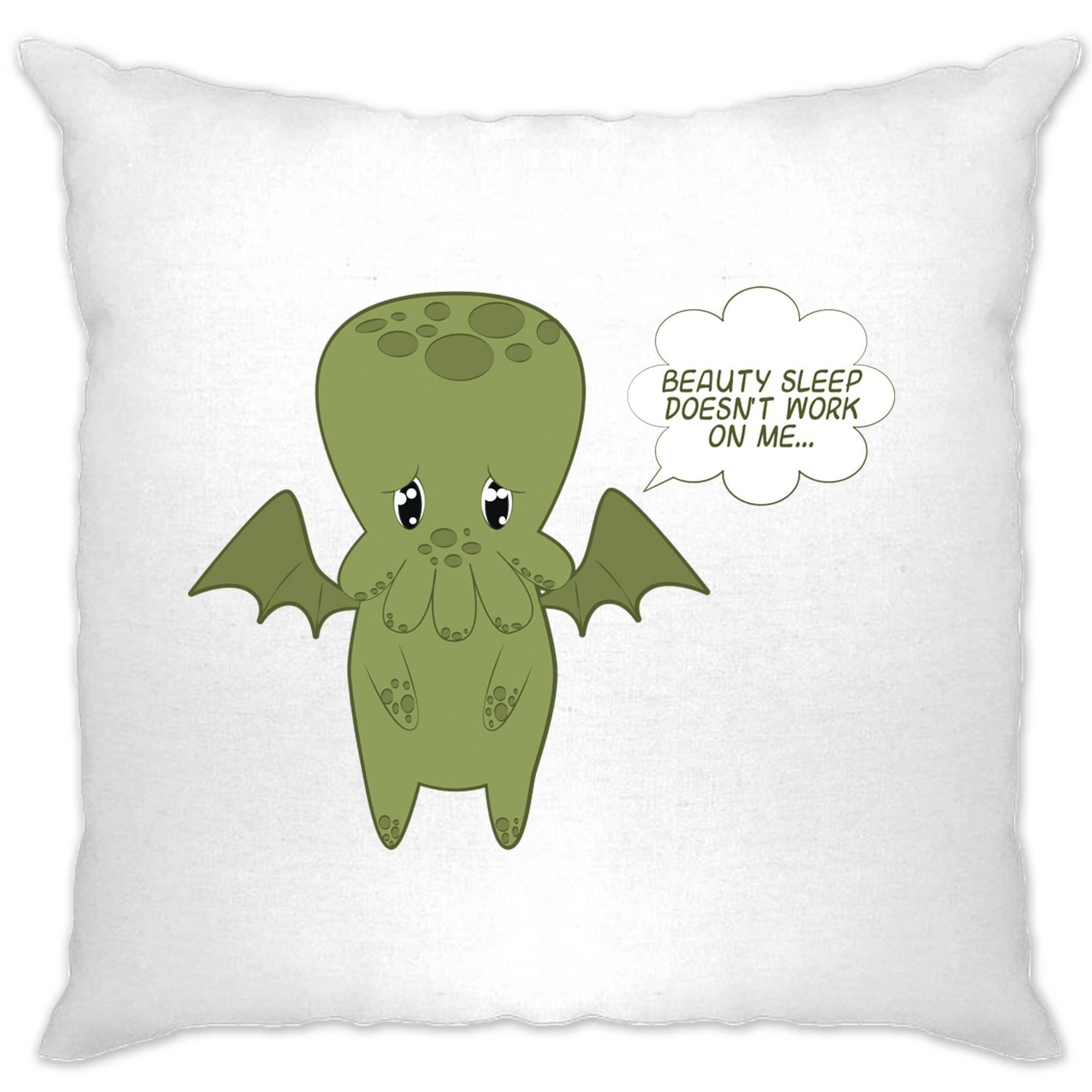 Cute Cthulhu Cushion Cover Beauty Sleep Doesn't Work On Me