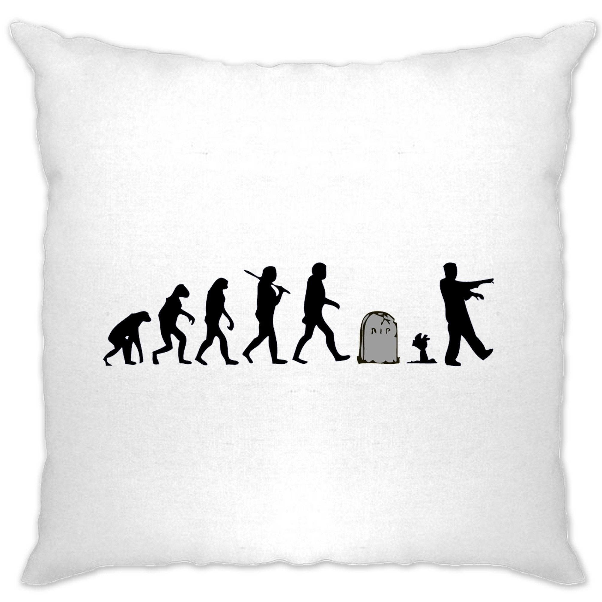 Halloween Cushion Cover Evolution Of A Zombie