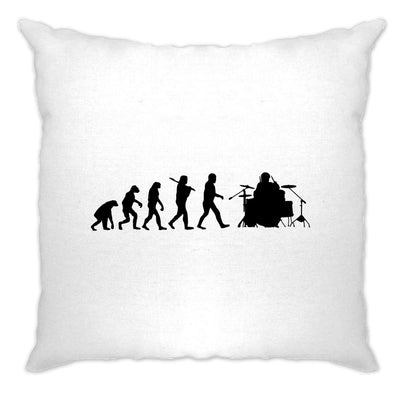 Musician Cushion Cover Evolution Of A Drummer