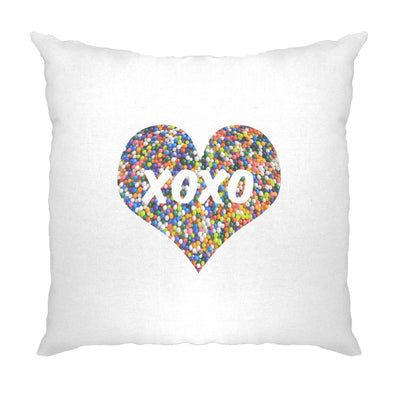 Sweetheart Cushion Cover XOXO Love And Kisses Logo