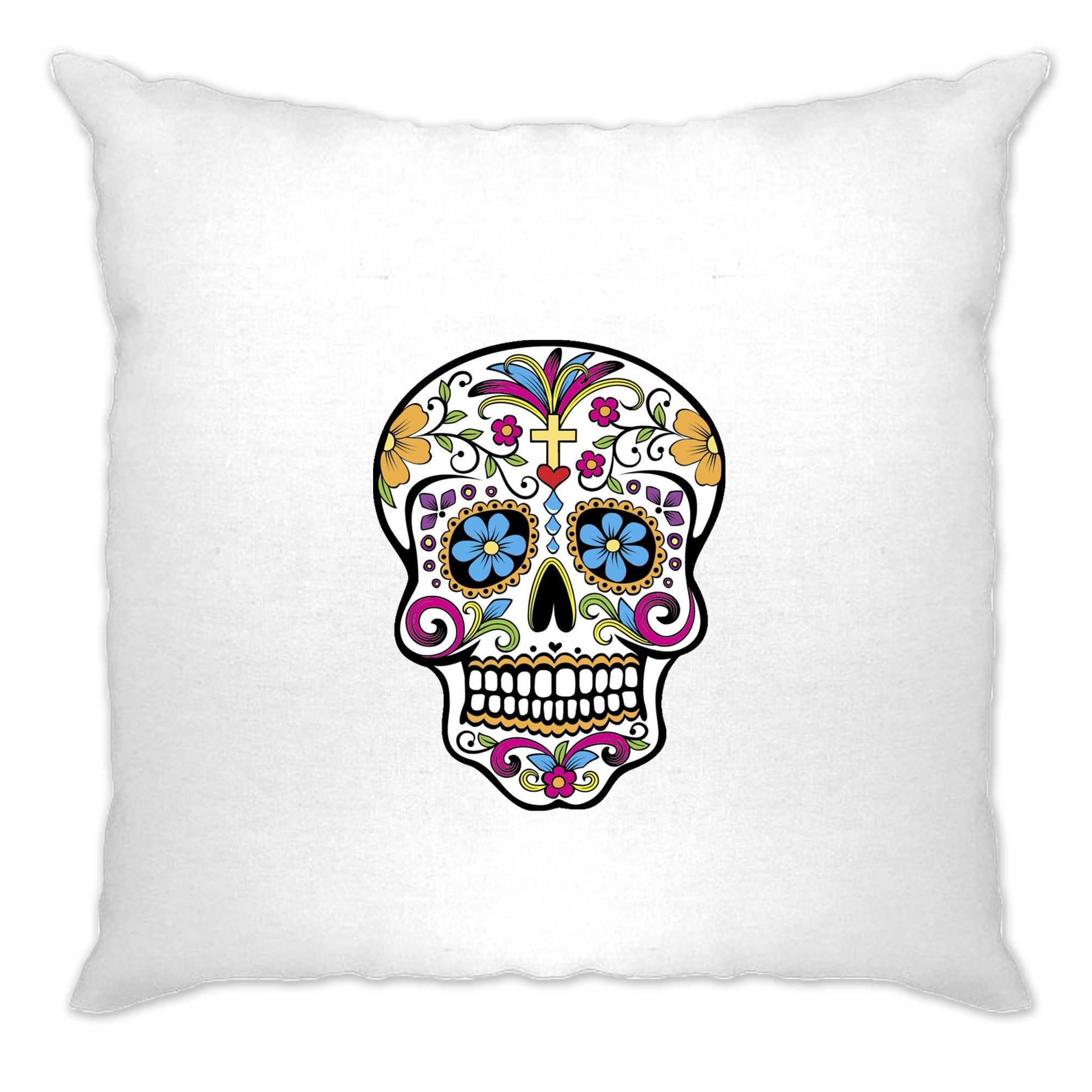 Day Of The Dead Cushion Cover Mexican Sugar Skull