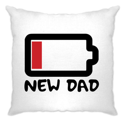 New Dad Cushion Cover Low Battery Remaining Novelty Joke
