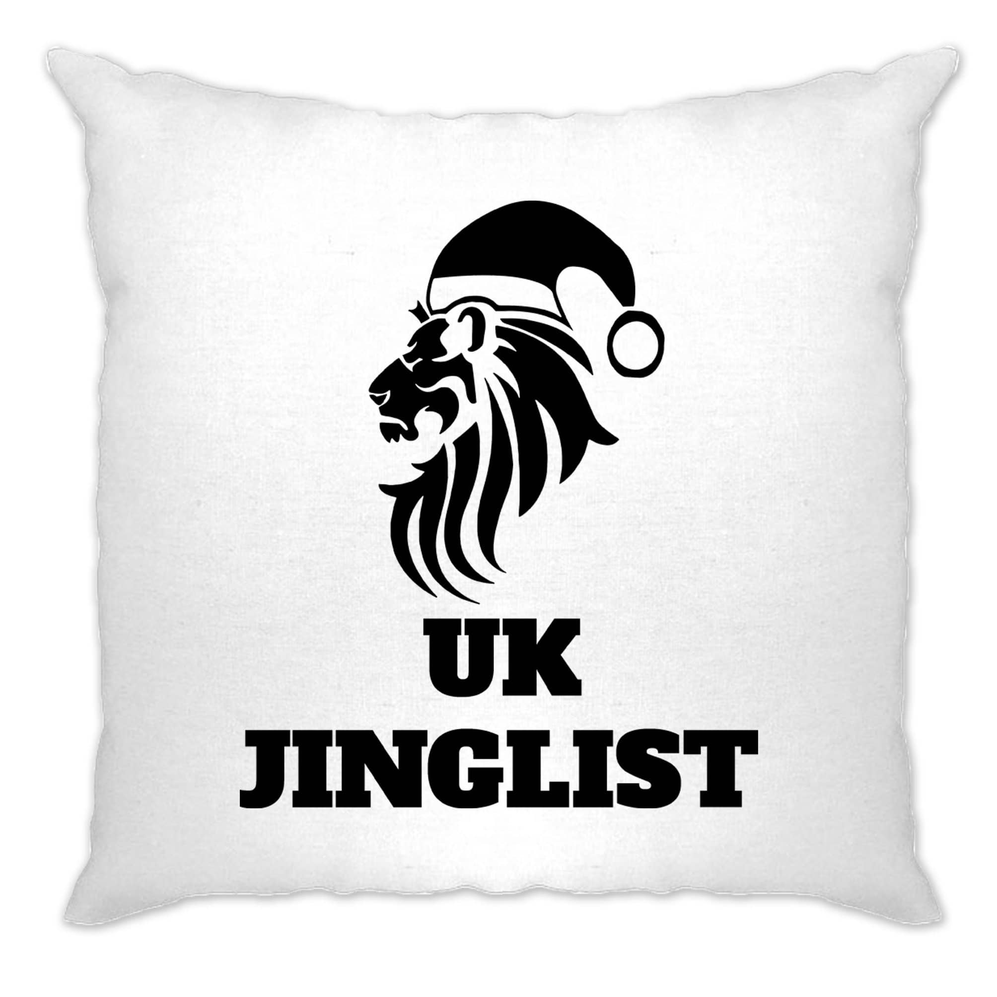 Christmas Parody Cushion Cover UK Jinglist Lion