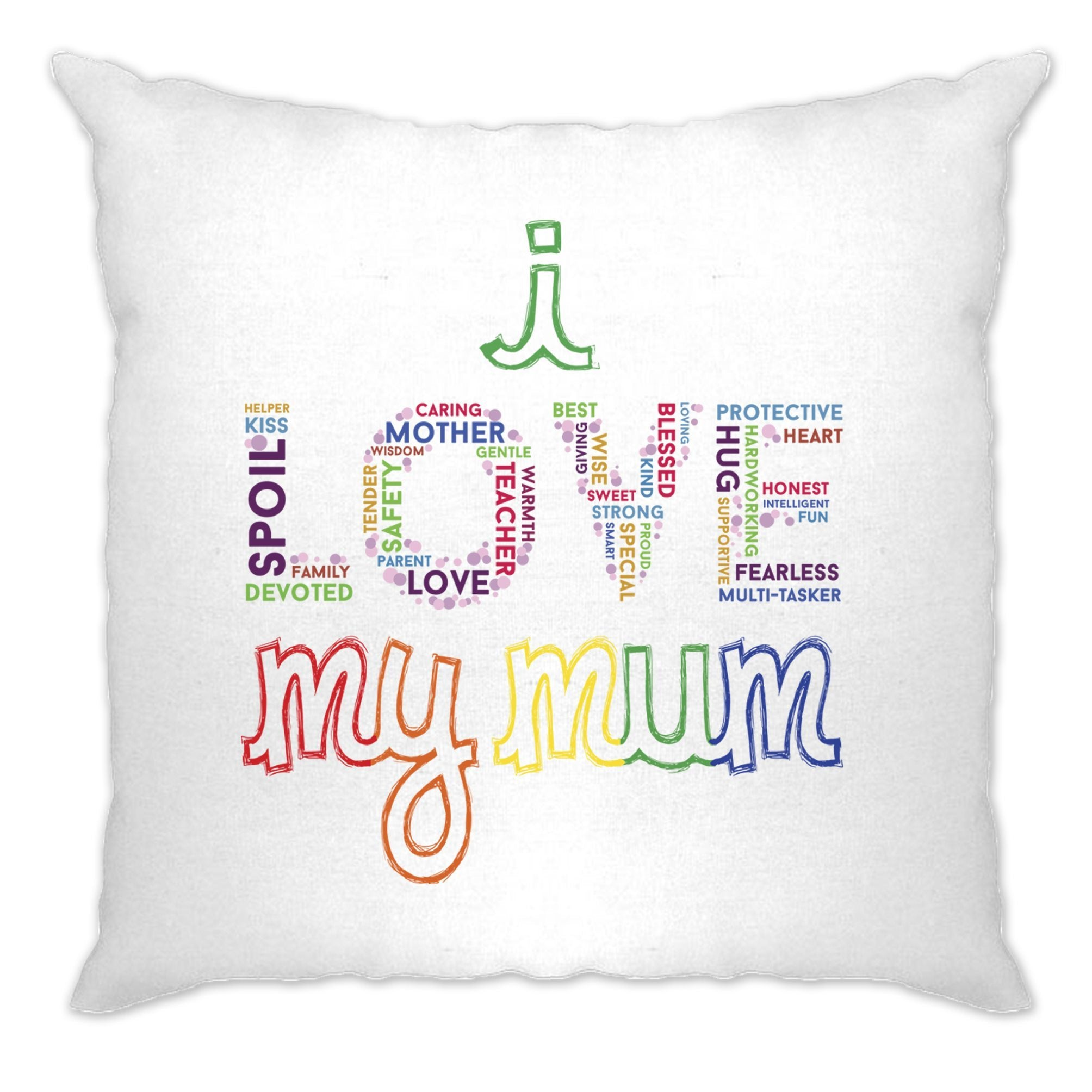 Mother's Day Cushion Cover I Love My Mum Mom Slogan