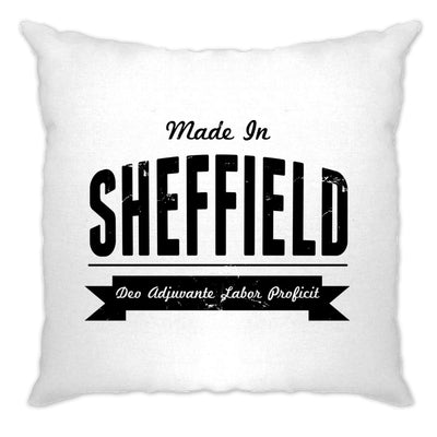 Hometown Pride Cushion Cover Made in Sheffield Banner