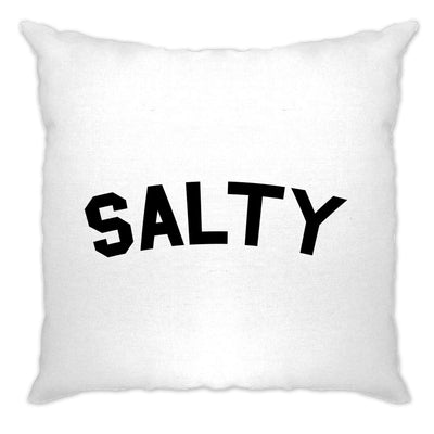 Novelty Social Media Slogan Cushion Cover Salty