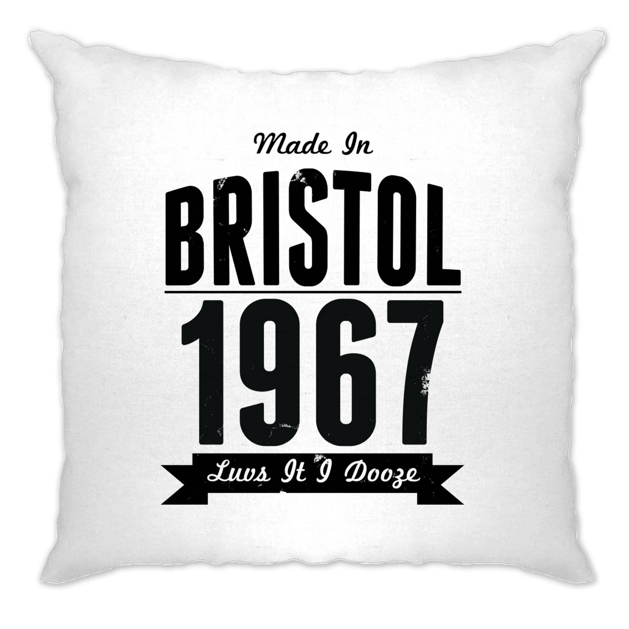 Birthday Cushion Cover Made In Bristol, England 1967 Motto