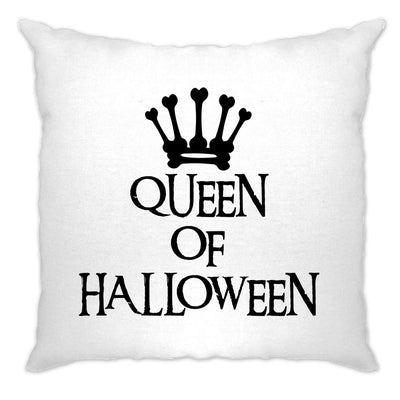 Novelty Spooky Cushion Cover Queen Of Halloween Crown