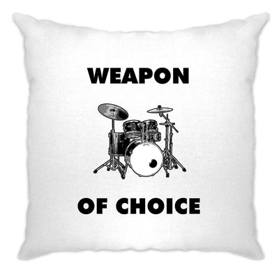 Novelty Music Cushion Cover Weapon of Choice Drums