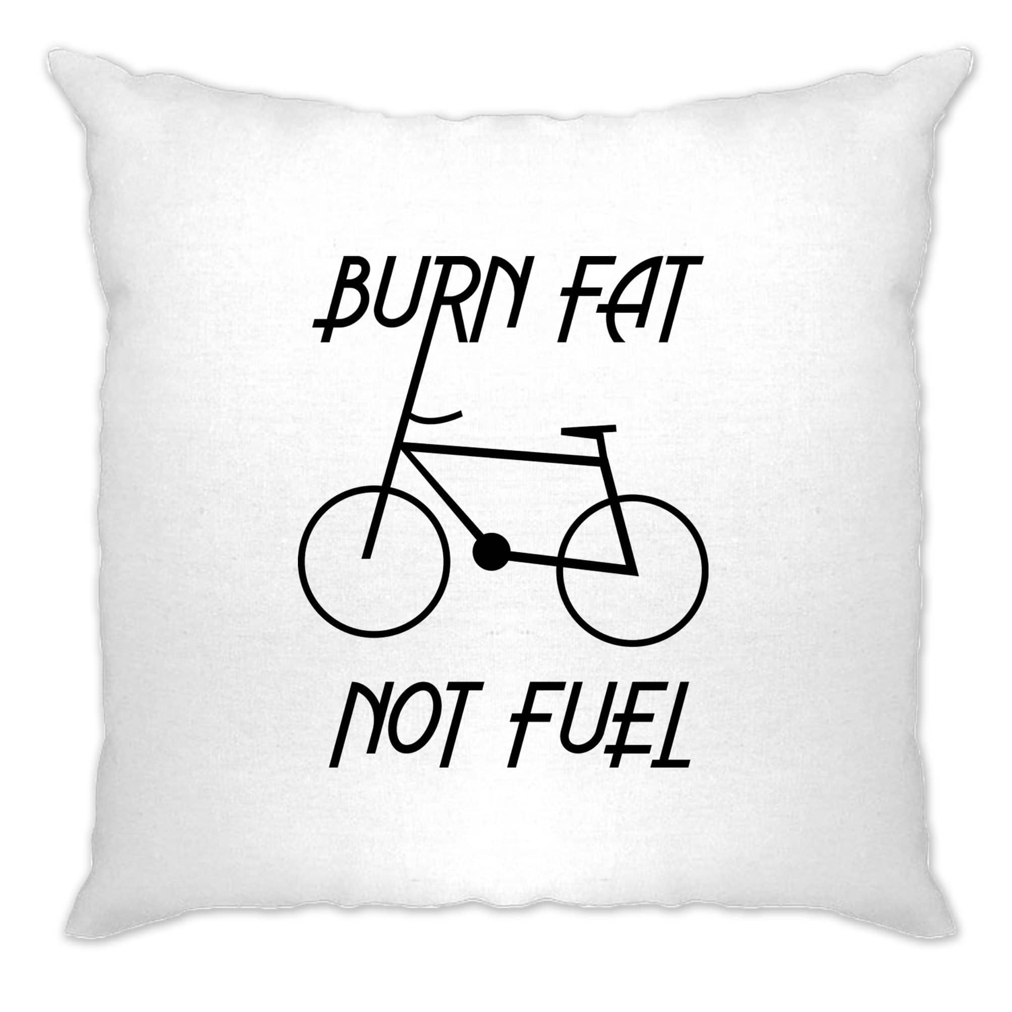 Eco Friendly Cushion Cover Burn Fat, Not Fuel - Cycle Logo