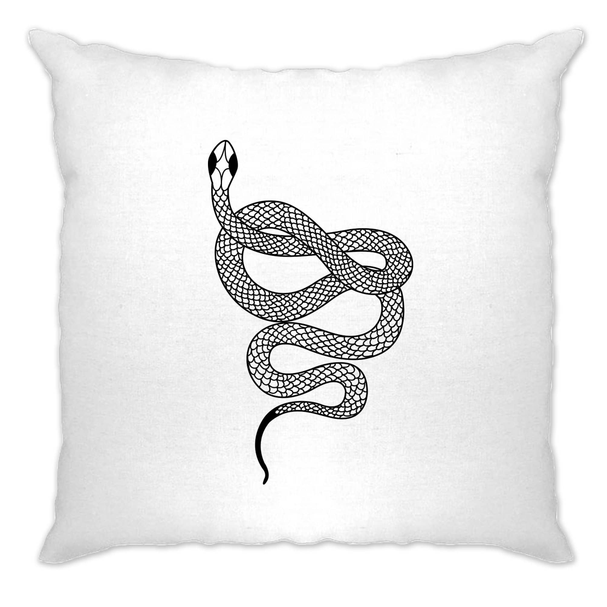 Animal Art Cushion Cover Illustrated Snake Tattoo Graphic