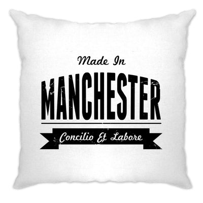Hometown Pride Cushion Cover Made in Manchester Banner