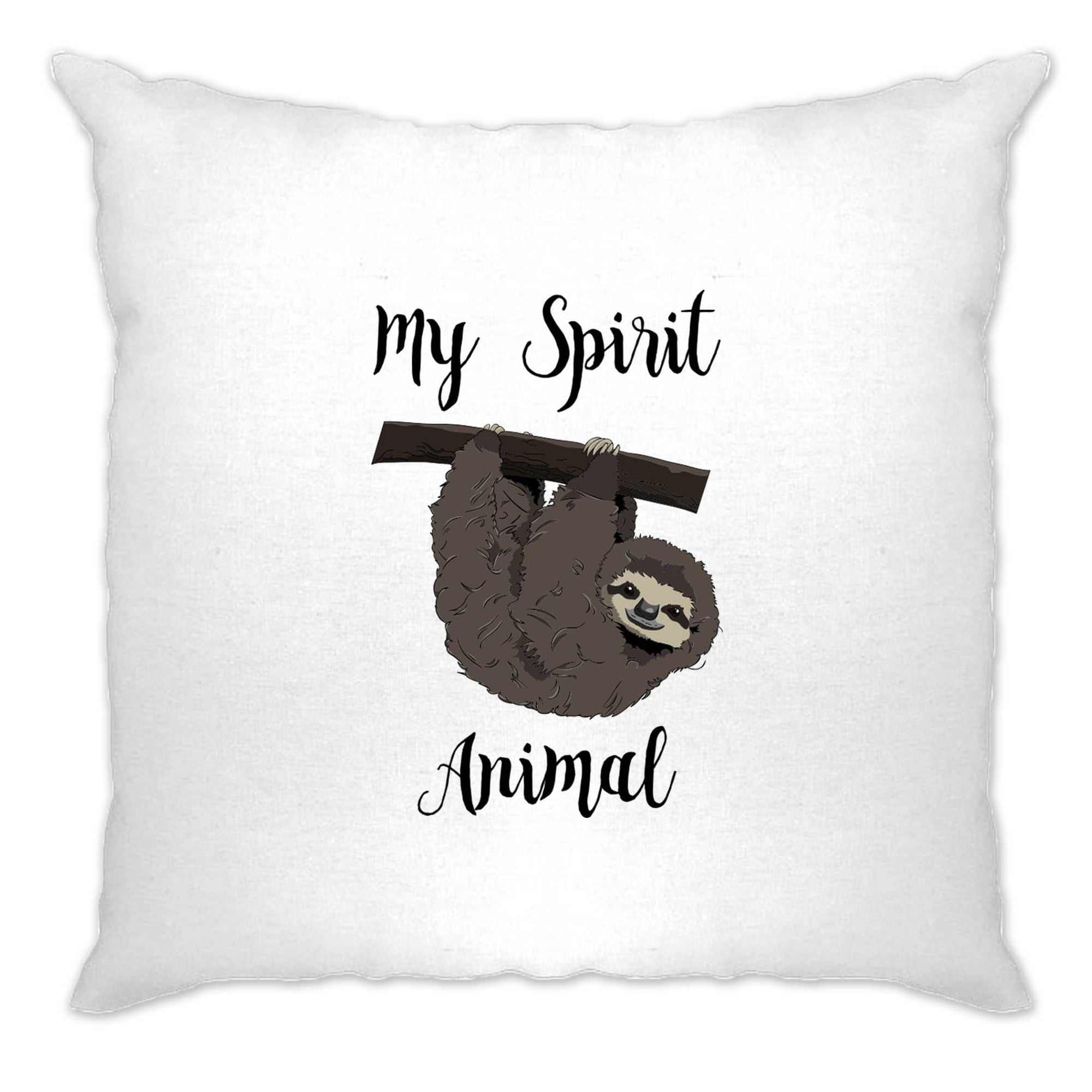 Novelty Lazy Cushion Cover My Spirit Animal Is A Sloth