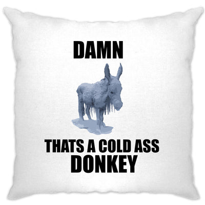 Music Parody Cushion Cover Damn, That's A Cold Ass Donkey