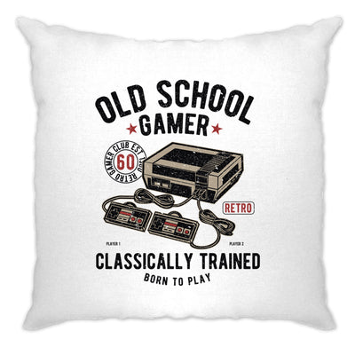 Gaming Cushion Cover Old School Gamer Retro Videogame Arcade