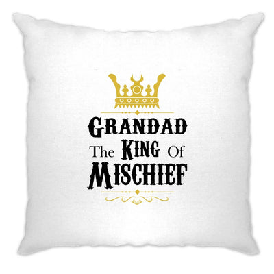 Father's Day Cushion Cover Grandad, The King Of Mischief
