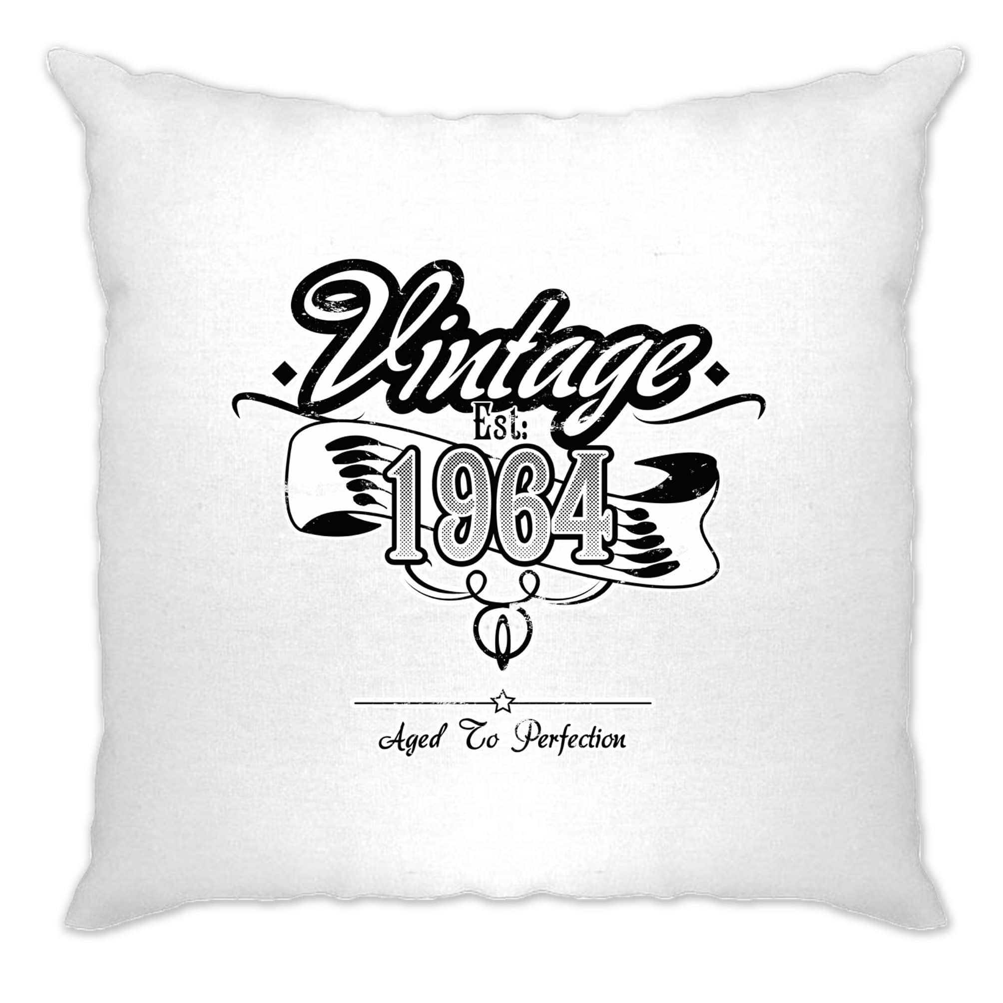 Birthday Cushion Cover Vintage Est 1964 Aged To Perfection