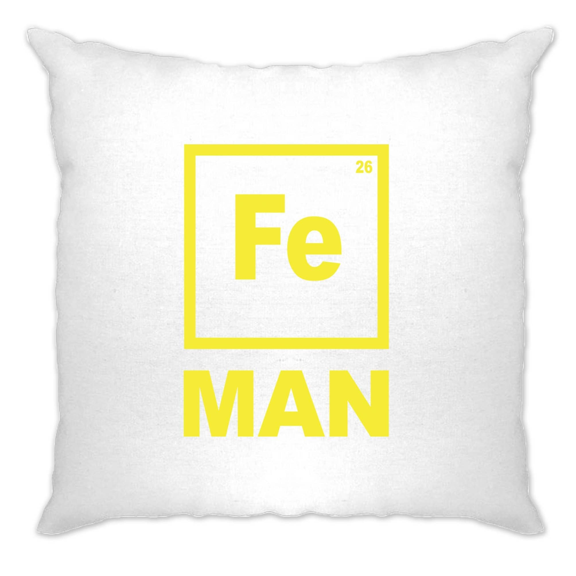 Novelty Nerdy Cushion Cover Fe Man Iron Chemical Symbol