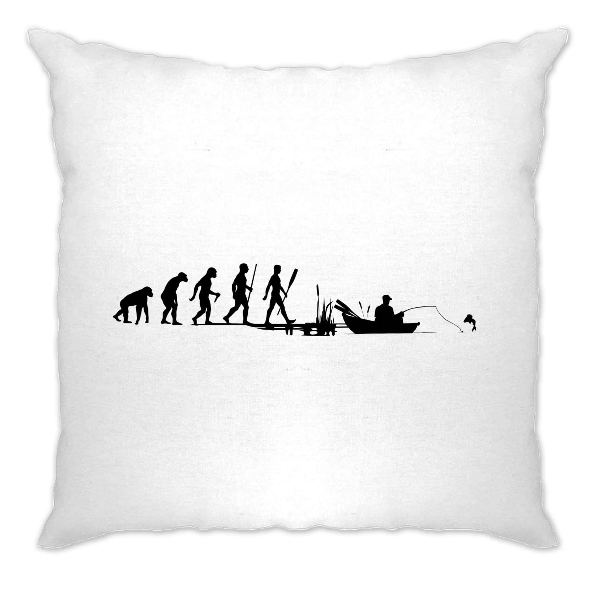 Fishing Cushion Cover Evolution Of An Angler