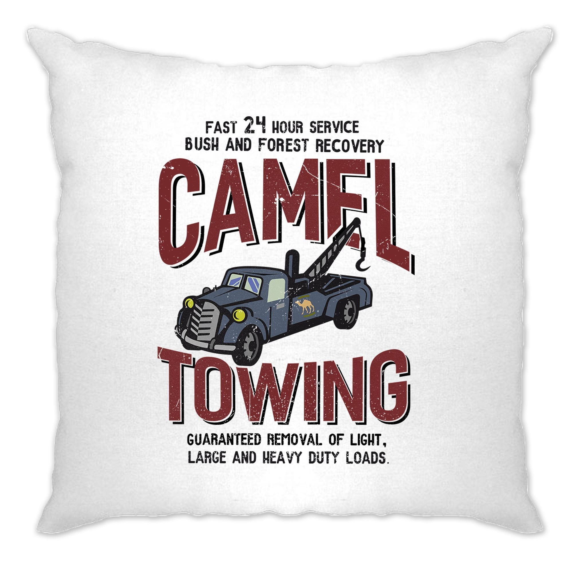 Novelty Mechanic Cushion Cover Camel Towing Car Recovery