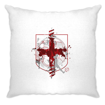 World Cup Cushion Cover England Flag Football Crest Of Arms