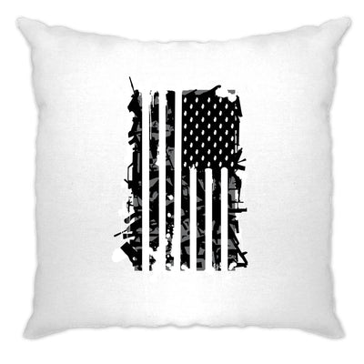 American Flag Cushion Cover Stylised with Graffiti