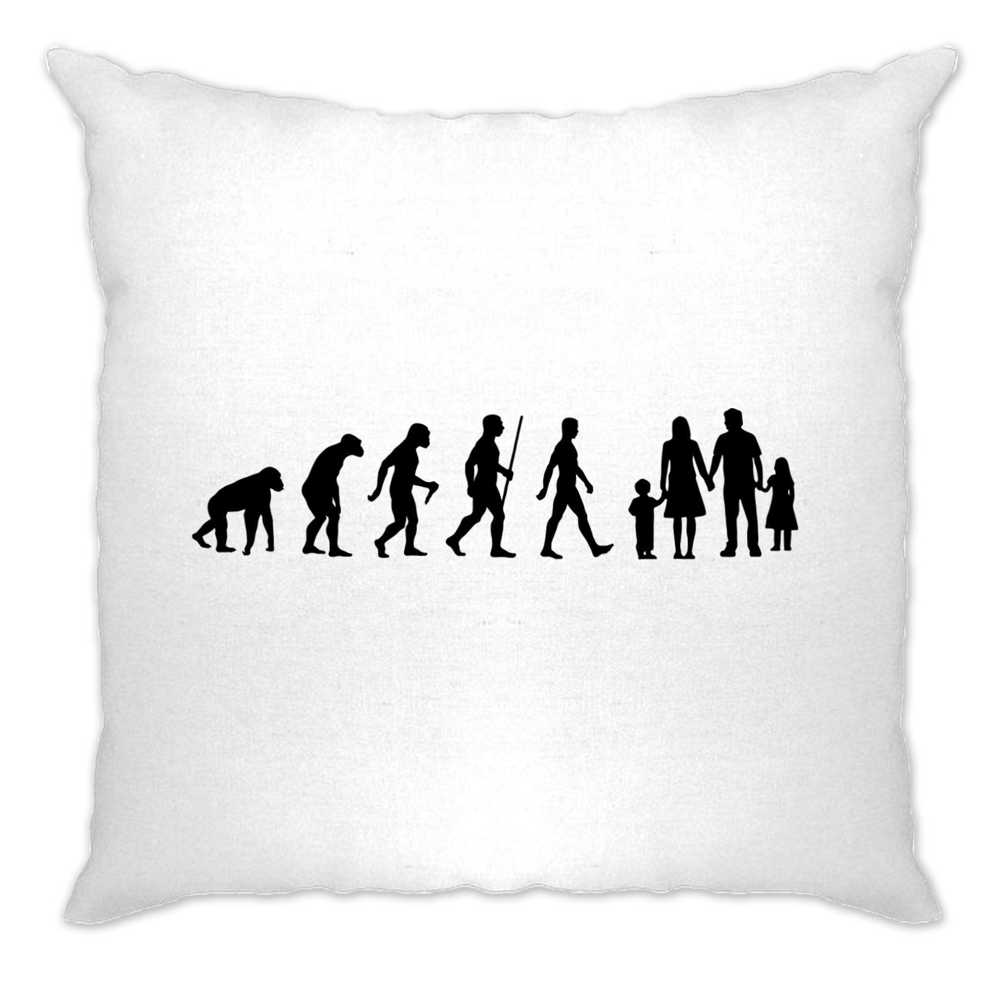 Parenthood Cushion Cover Evolution Of A Family Girl And Boy