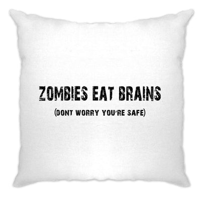 Halloween Cushion Cover Zombies Eat Brains, You're Safe