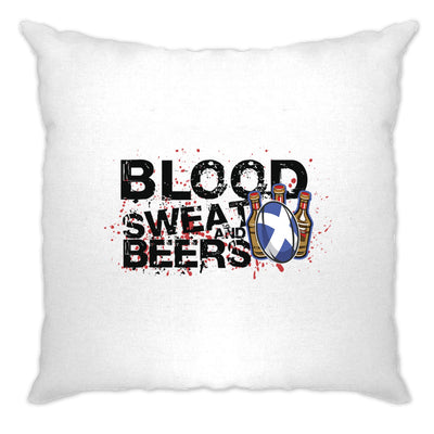 Scotland Rugby Supporter Cushion Cover Blood, Sweat And Beer
