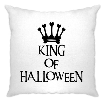 Novelty Spooky Cushion Cover King Of Halloween Crown