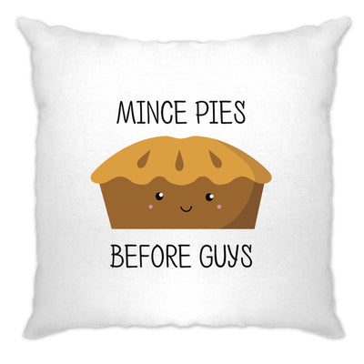 Joke Christmas Cushion Cover Mince Pies Before Guys Novelty