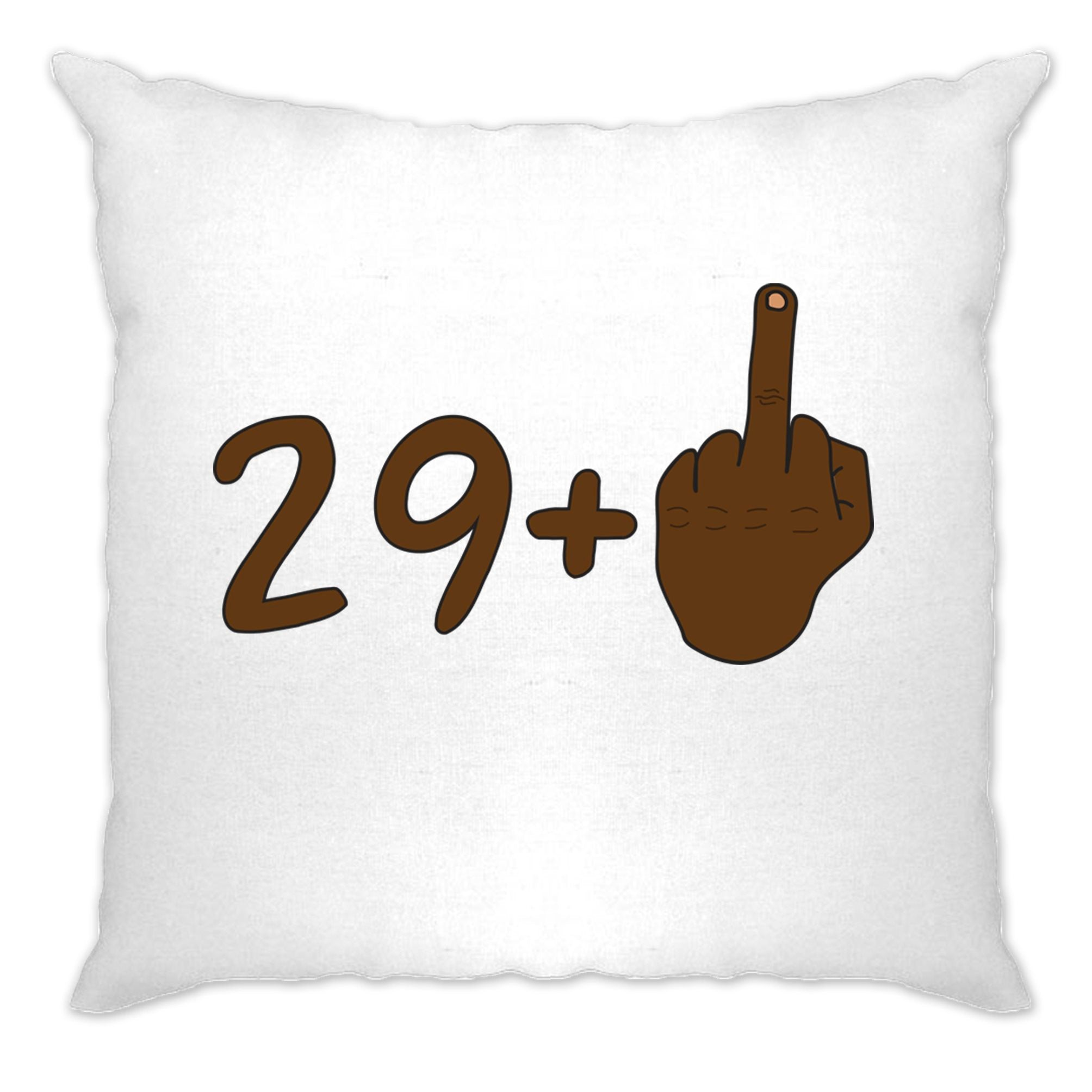 Rude 30th Birthday Cushion Cover Black Middle Finger