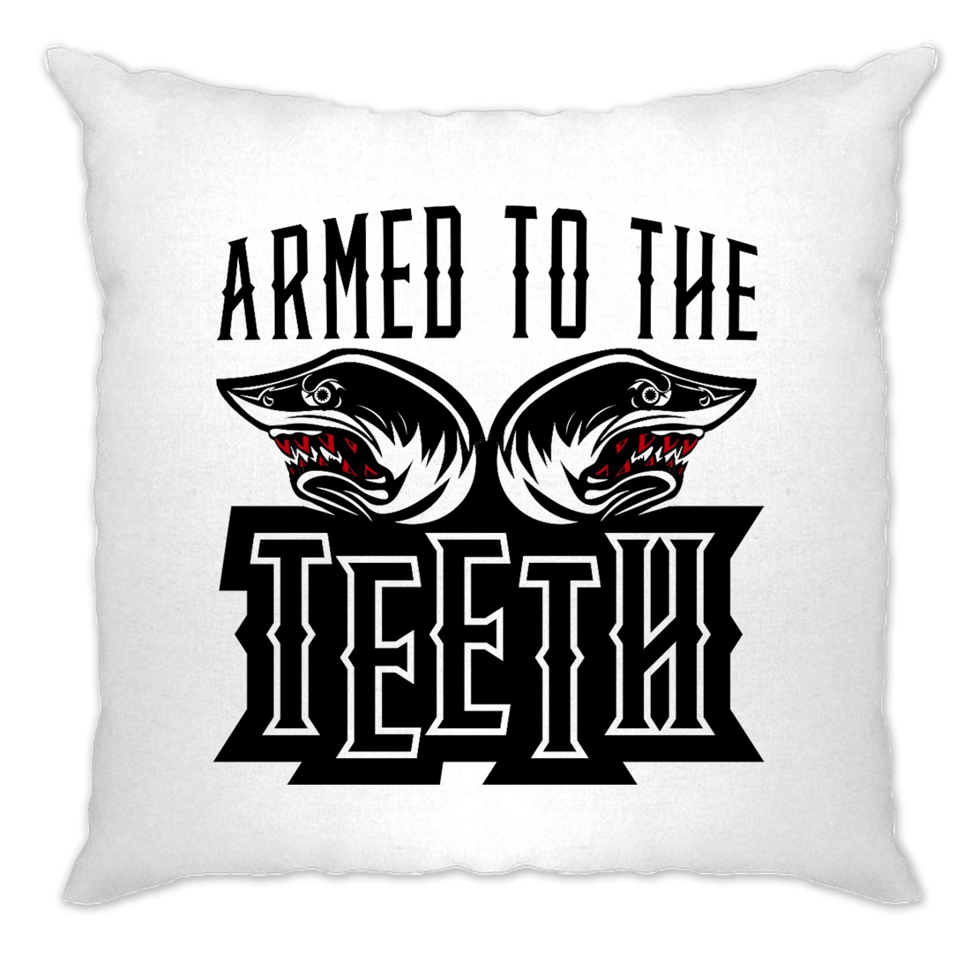 Sharks Cushion Cover Armed To The Teeth Weapon Expert