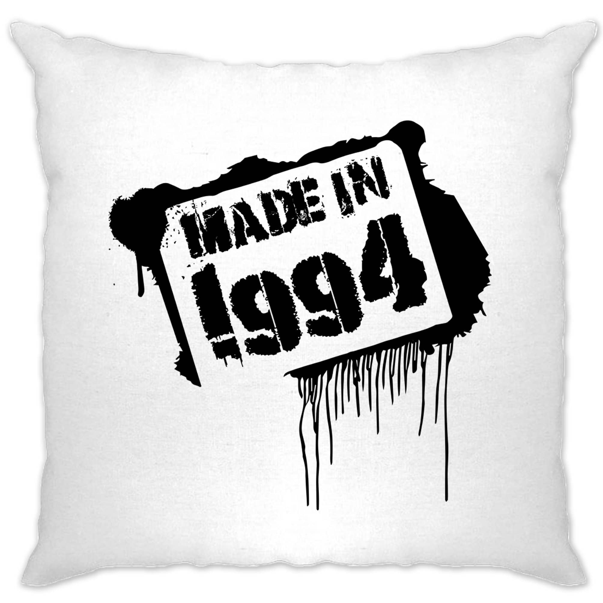 Birthday Cushion Cover Made In 1994 Graffiti
