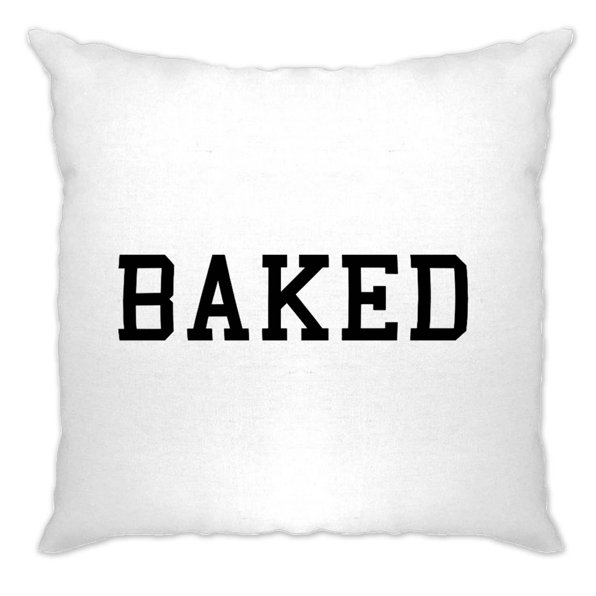 BAKED Cushion Cover College Style Printed Slogan