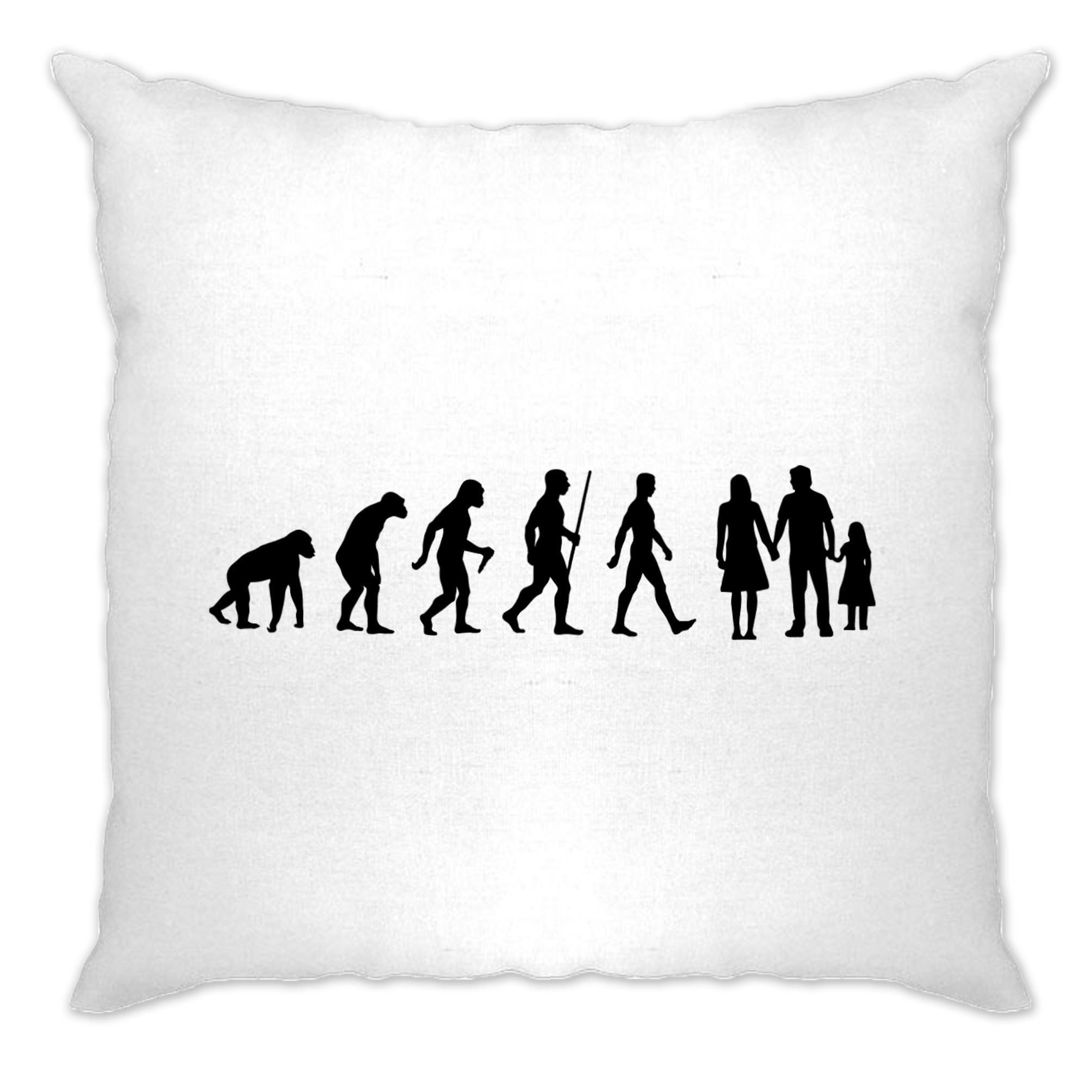 Parenthood Cushion Cover Evolution Of A Family Two Girls