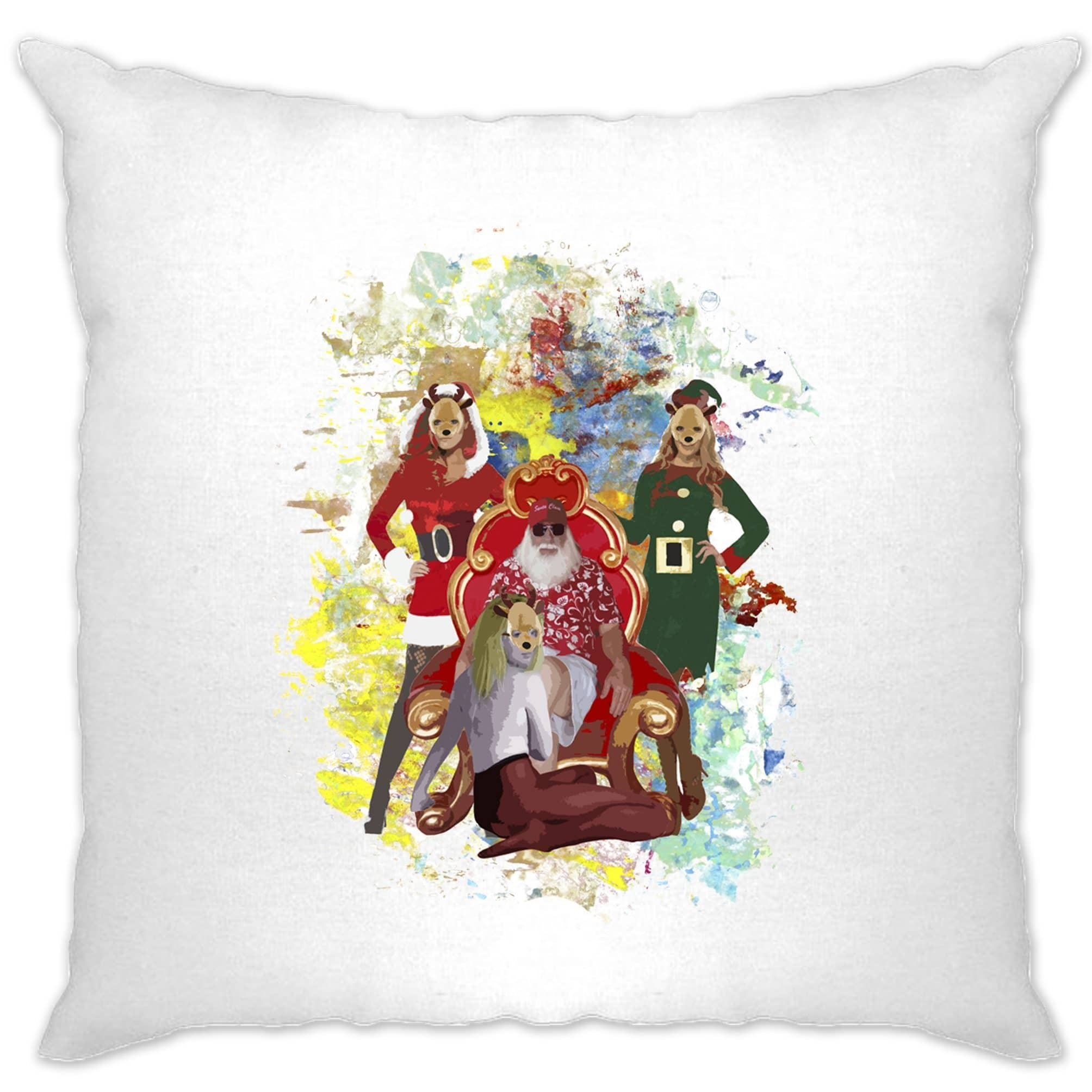 Father Christmas Cushion Cover Santa And His Ho Hoe Hoes