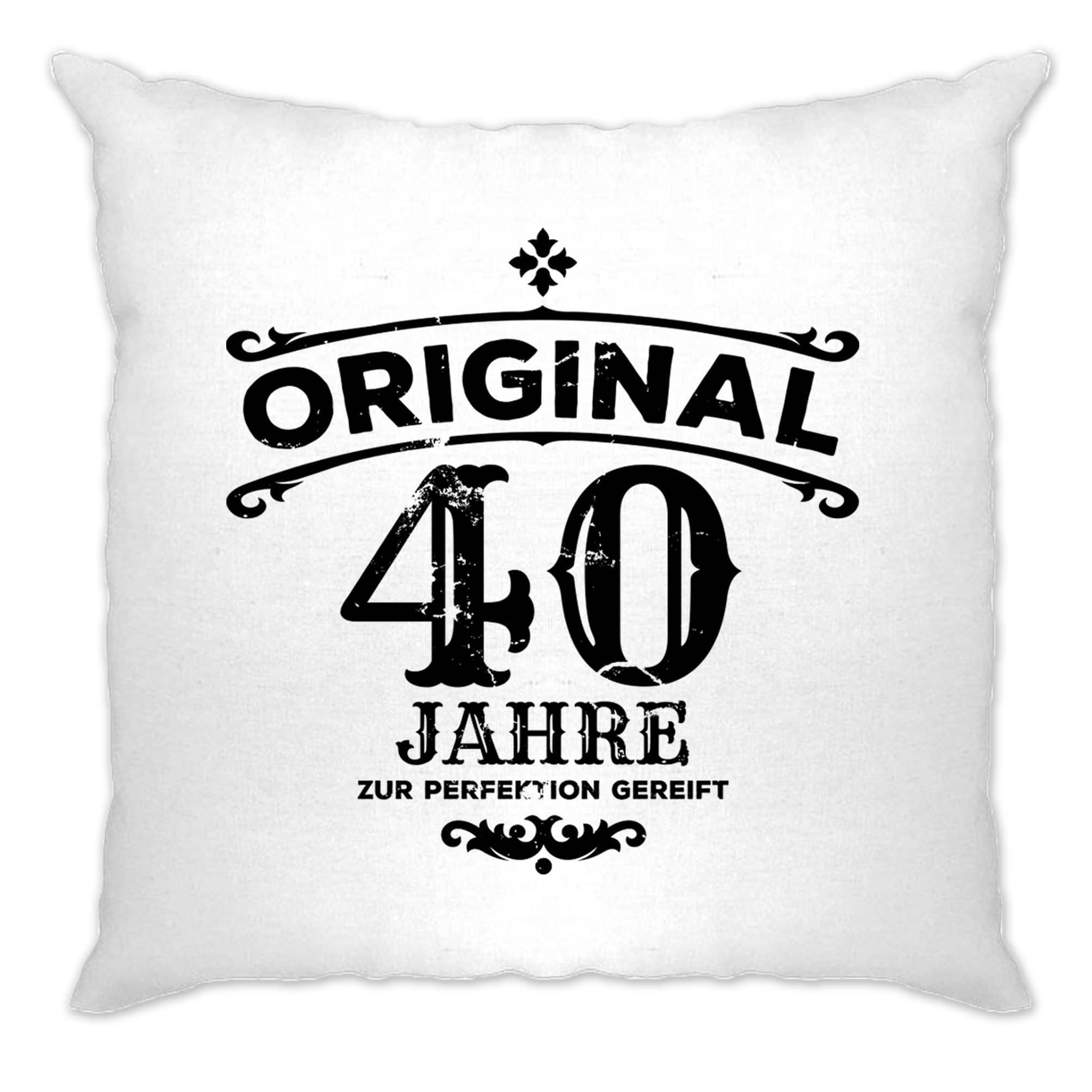 40th Birthday Cushion Cover Original Aged Forty 40 Years