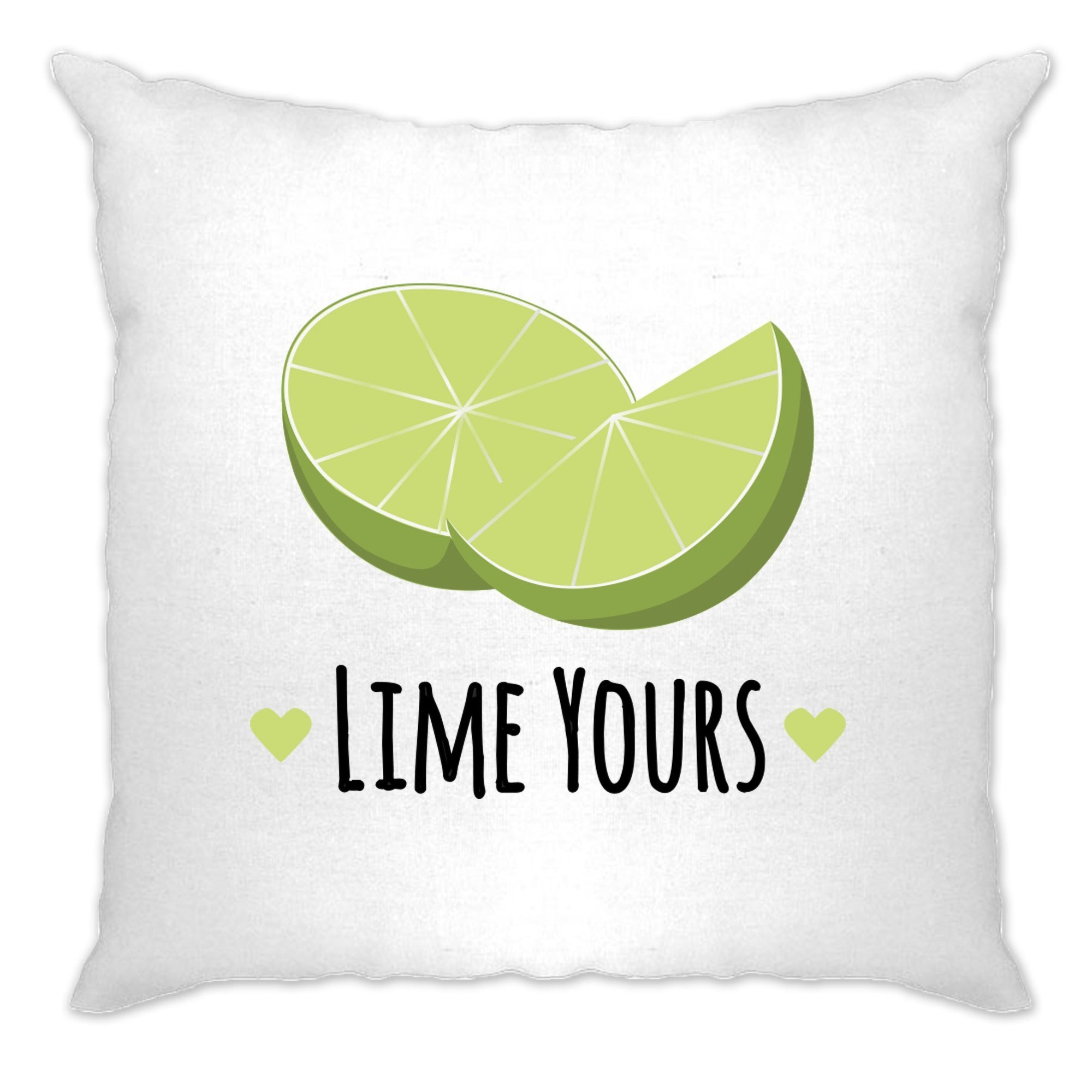 Novelty Couples Pun Cushion Cover I'm Yours Lime Joke Slogan