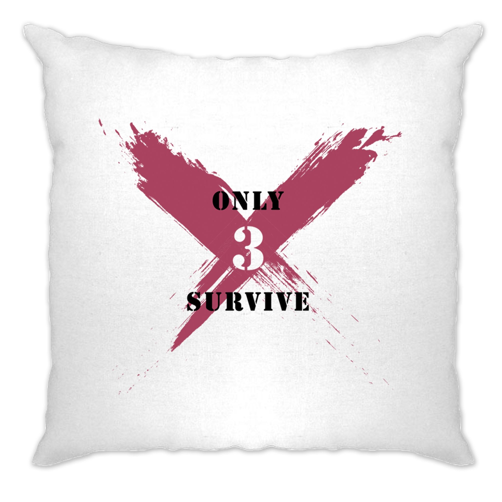 Squad Gaming Cushion Cover Only 3 Survive Slogan