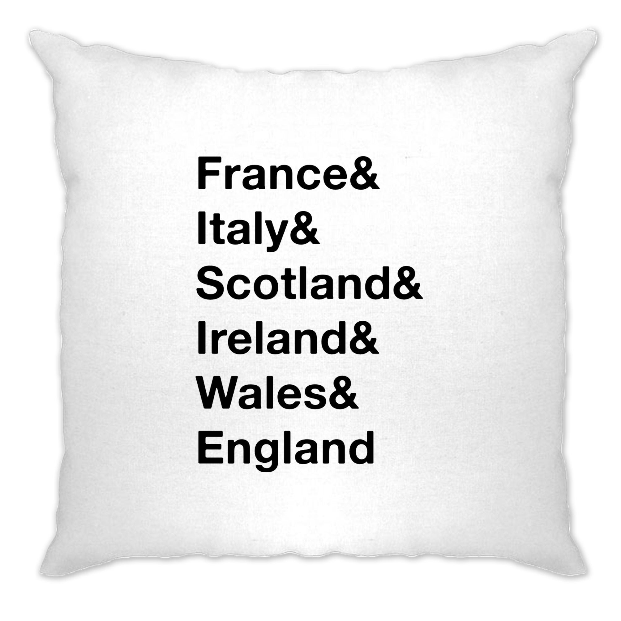 The Six Nations Cushion Cover France, Italy, Scotland